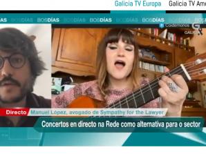 Explicamos las implicaciones legales de los conciertos por streaming en los informativos Bos días de TVG